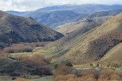 高山山风景和山景在waitaki distri的 免版税库存照片
