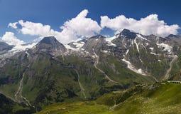 高山山风景在夏天 奥地利的阿尔卑斯 免版税库存图片