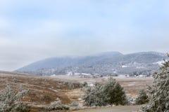 高山峰顶 自然的横向 免版税库存图片