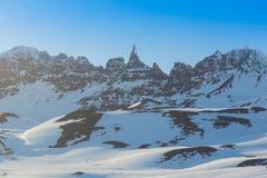 高山峰顶 自然美好的横向 免版税库存照片