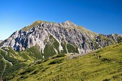 高山峰顶 免版税图库摄影