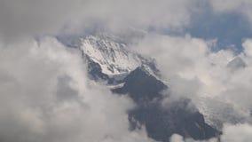 高山峰顶landskape背景 少女峰,Bernese高地 远足概念的阿尔卑斯、旅游业和冒险 影视素材