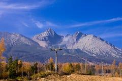 高山斯洛伐克视图 免版税库存图片