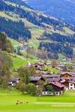 高山村庄Mayrhofen 免版税图库摄影