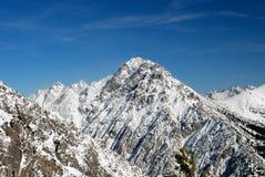 高山横向列支敦士登 免版税图库摄影