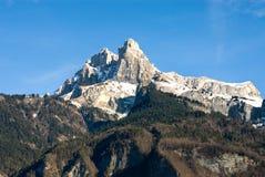 高山法国场面 免版税库存图片