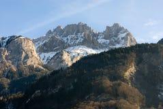 高山法国场面 库存照片