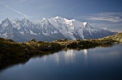 高山湖和山 免版税库存图片