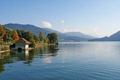 高山湖夏天瑞士 免版税库存照片