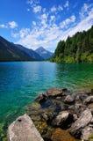 高山湖提洛尔 免版税库存图片