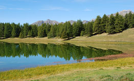 高山湖 库存图片