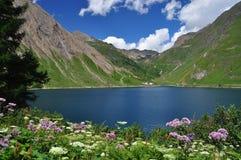 高山湖(lago) Morasco,福尔马扎谷,意大利 免版税库存照片