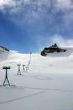 高山滑雪倾斜 免版税库存照片