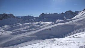 高山滑雪手段Zugspitzplatt 股票视频
