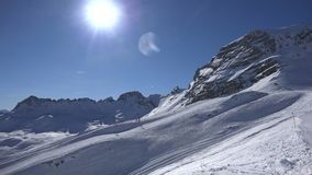 高山滑雪手段Zugspitzplatt 股票录像