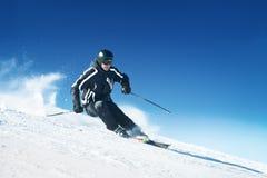 高山滑雪者 库存图片