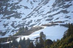 高山滑雪胜地Serfaus Fiss Ladis在奥地利 库存图片