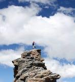 高山登山人蒙大拿 图库摄影