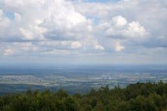 从高山的看法 免版税库存照片