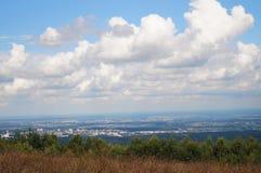 从高山的看法 库存照片