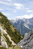 高山美好的风景  免版税图库摄影