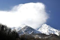 高山视图在索契,罗莎Khutor 库存图片