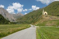 高山路在Val福尔马扎 免版税库存照片