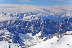 高山阿尔卑斯山 库存照片