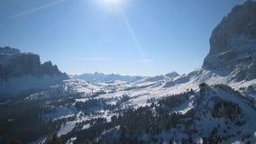 高山阿尔卑斯横向 库存图片