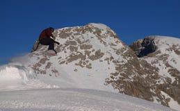 高山雪板运动 库存图片