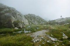 高山风景在安道尔 免版税图库摄影