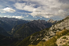 高山风景在斯洛文尼亚 库存照片