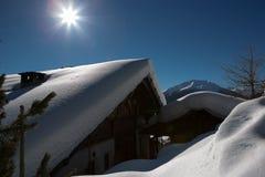 高山风景-意大利 库存图片