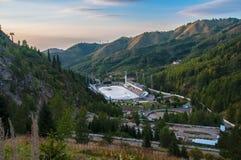 高山滑冰场麦迪奥 库存照片