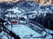 高山滑冰场 库存图片