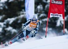 高山滑雪世界杯- Val加迪纳下坡训练 免版税库存照片