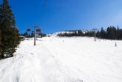 高山滑雪坡道 库存图片