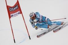 高山Alta Badia杯子大滑雪障碍滑雪世界 免版税图库摄影