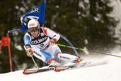 高山Alta Badia杯子大滑雪障碍滑雪世界 免版税库存图片