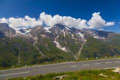 高山grossglockner公路 奥地利 欧洲 库存照片