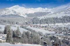 高山restort滑雪 库存照片
