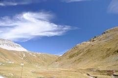 高山Stelvio国家公园 免版税库存照片