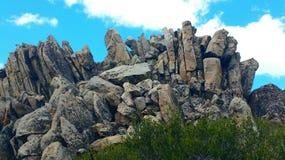 高峰岩石 库存图片