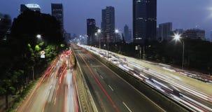 高峰时间交通时间间隔在雅加达 股票视频