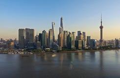 高峰时间在上海 库存照片