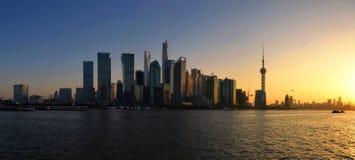 高峰时间在上海 库存图片