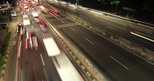 高峰时间时间间隔英尺长度在高速公路的 股票视频