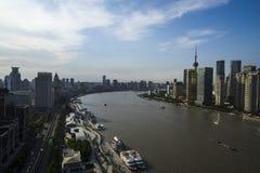高峰时间在上海 免版税库存照片