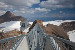 高峰步行在瑞士 库存图片