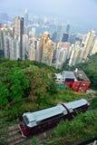 高峰电车,香港 库存图片